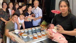Lê Phương hạnh phúc cùng chồng trẻ tổ chức tiệc đầy tháng cho công chúa nhỏ