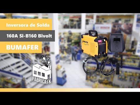 Inversora de Solda Profissional 160A SI-B160 Bumafer Bivolt - Vídeo explicativo