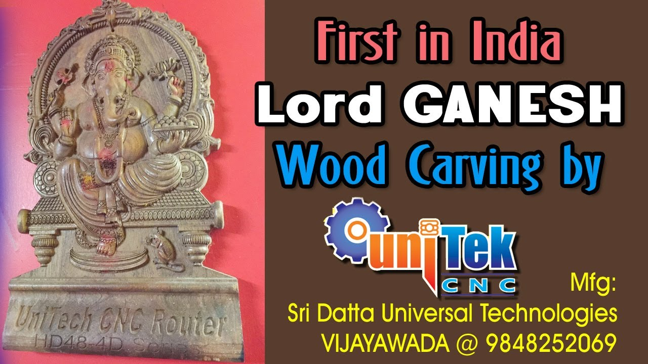 High Speed Cnc Wood Carving Of Lord Ganesh Youtube