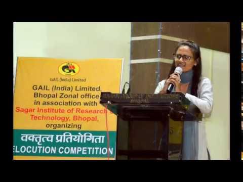 GAIL Bhopal Organized 'Elocution Competition' at SIRT, Bhopal