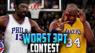 NBA2K16 - Worst Three-Point Contest Ever!!? Shaq, Wilt, Drummond, Kareem, Mutombo!!