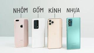 Điện thoại làm chất liệu nào tốt nhất? Nhựa hay kính?