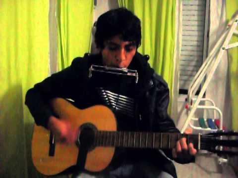 Triste cancion de amor (cover) de La Renga  guitarra y armonica