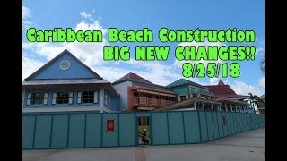 Disney's Caribbean Beach HUGE NEW construction changes 8/25/18