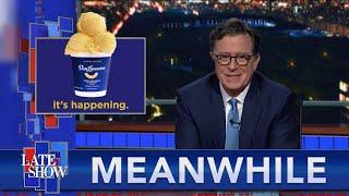 Meanwhile... Does Mac & Cheese Ice Cream Threaten Colbert's Dessert Dominance?