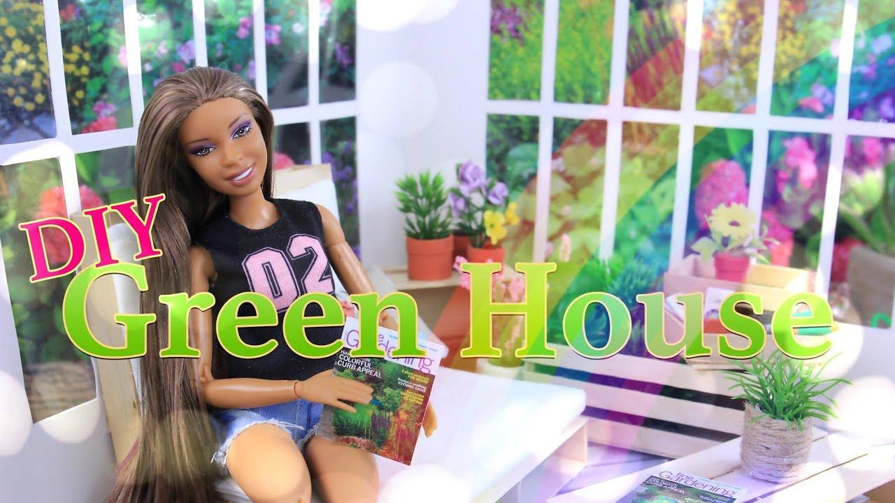 DIY - How to Make: Doll Greenhouse - Handmade Dollhouse Crafts