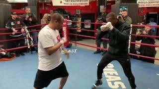 Full media workout Erislandy Lara and Luis Ortiz share the same ring