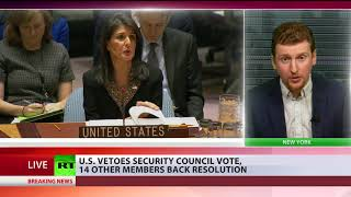 US vetoes UN resolution on withdrawing Trump's Jerusalem decision