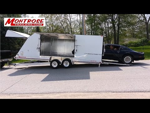 Low Profile Power Tilt Enclosed Trailer