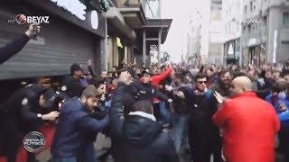 Trabzonspor taraftarlarından GS Store mağazasına saldırı