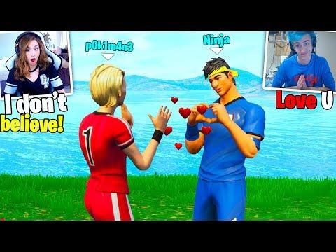 Ninja fell in LOVE with Pokimane !