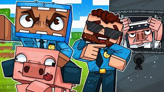 I Made A Police Station and Pretended To Be A Cop... - Minecraft