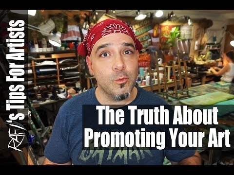 Promoting Your Art Can Be Easy  - Tips For Artists