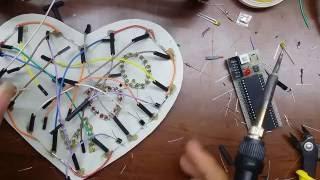 Hướng dẫn chi tiết cách làm hộp quà LED trái tim đơn giản, đẹp và tiết kiệm