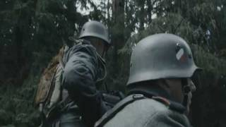 German motorcycle soldiers killed by a Russian soldier.wmv