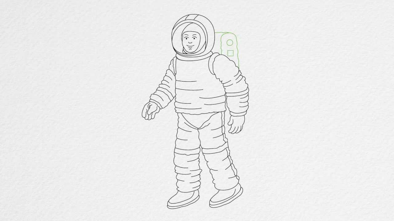 space suit drawing - photo #10