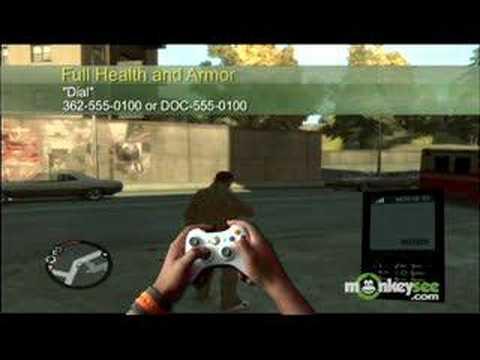 Grand Theft Auto IV Cheat Codes - YouTube