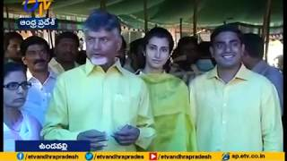 Chandrababu and his family exercise franchise in Undavalli..