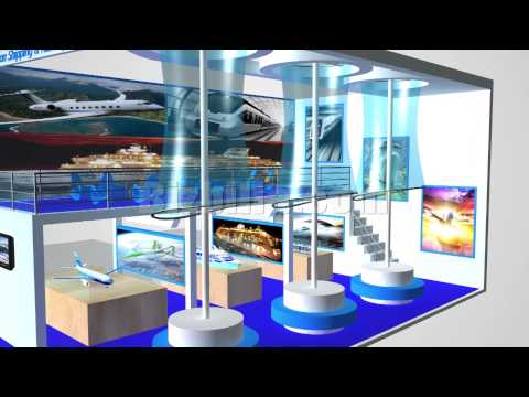 Aviation, Shipping & Railway online 3d virtual tradeshow booth image