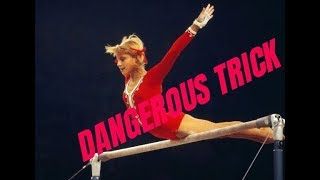 PROHIBITED elements in GYMNASTICS. DANGEROUS TRICK  of Olga Korbut.