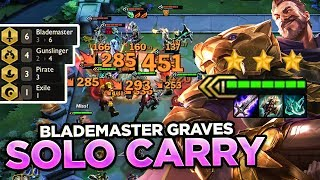 ACTUAL 1v9 BLADEMASTER GRAVES SOLO CARRY | Teamfight Tactics