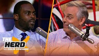 Tua could fall in the draft to a very good team, Lamar Jackson has accuracy — Vick | NFL | THE HERD