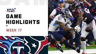 Titans vs. Texans Week 17 Highlights | NFL 2019