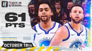 Stephen Curry & D'Angelo Russell DESTROY THE LAKERS! COMBINED Highlights 2019.10.18 - 61 Points!