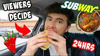 Letting My VIEWERS DECIDE What I Eat For 24 Hours!!!
