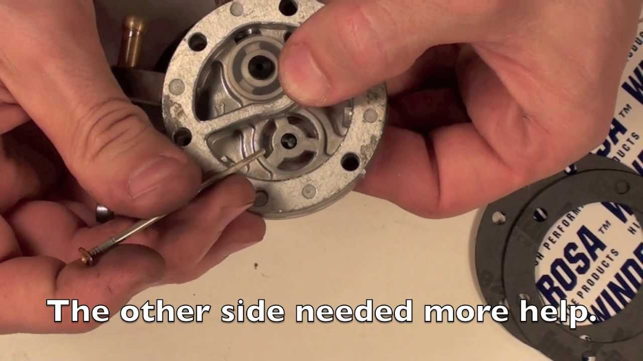 Mikuni Carb Series 1 Fuel Pump Rebuild Youtube
