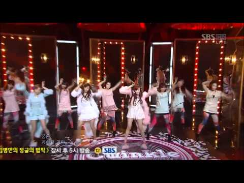 [120513] HD 1080p SNSD TTS - Twinkle 1st Win at SBS Inkigayo