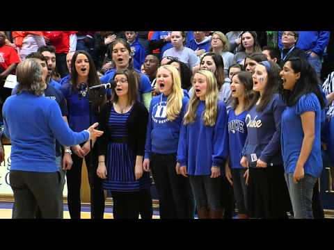 Duke Catholic Center Choir Sings National Anthem