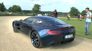 RARE Blue Aston Martin ONE-77 - Lovely V12 SOUND!!