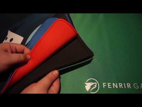 Fenrir Games Total Pro Edge Mat Solid Colour - Red
