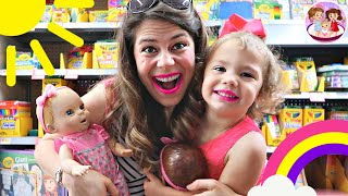 😬1ST BACK-TO-SCHOOL Shopping with BABY DOLL TWINS⁉️🍎
