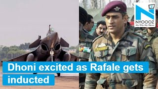 MS Dhoni, honorary Lieutenant Colonel reacts on Rafale ind..