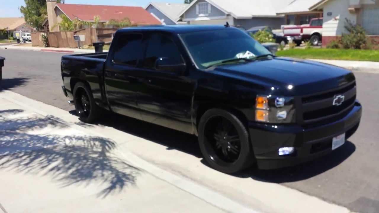 My 08 chevy silverado LtZ all blacked out :) - YouTube