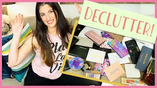 OMG!  EXTREME EYESHADOW PALETTE DECLUTTER! | THIS IS THE HARDEST VIDEO I HAVE EVER FILMED!