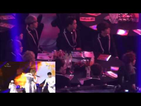140213 EXO REACTION TO B.A.P- ONE SHOT gaon charts awards