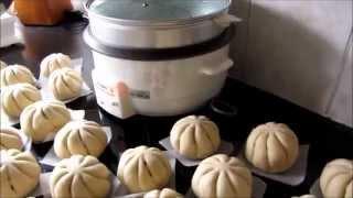 Làm Bánh Bao nhan thit cuc ngon