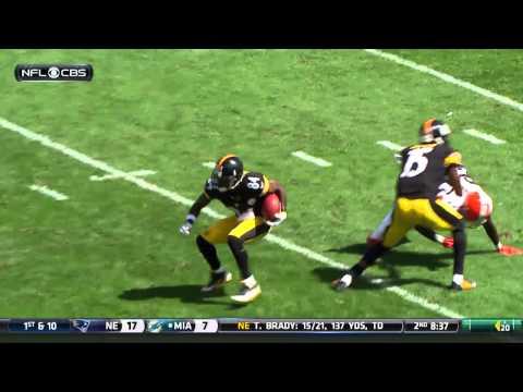 Antonio Brown Kicks Browns Punter Spencer Lanning During Return