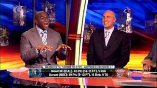 Magic Johnson on Dirk's performance in WCF Game 4, Dallas at OKC 05/23/2011