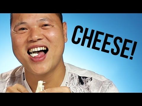 Chinese People Eat String Cheese For The First Time