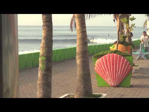 Epic Long board surfing El Salvador Punta Roca and La Paz
