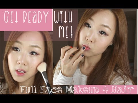 ♥ Get Ready With Me!! ♥ Full Korean-Style Makeup & Hair | 같이 준비 해요! 이쁜 화장 & 머리♥