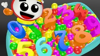 Learn Colors and Numbers with Baby Bath l Children 1-10 I for Kids Children Nursery Rhymes-Helipo