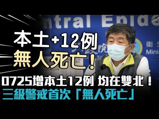 【有影】好消息!0725無死亡案例 本土新增12例