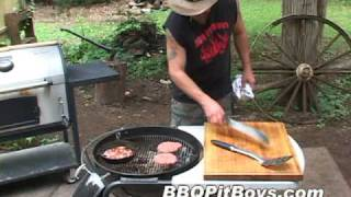 Grilled Bacon Cheeseburgers by the BBQ Pit Boys