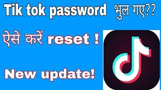 How to reset tik tok Account