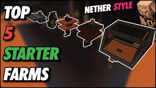 Minecraft TOP 5 NETHER FARMS | Easy Beginner Farms,